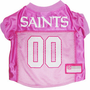 New Orleans Saints Pink NFL Dog Jersey - Happy Paws Pet Shop - 1