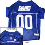 New York Giants NFL Dog Jersey - Blue Trim - Happy Paws Pet Shop - 3