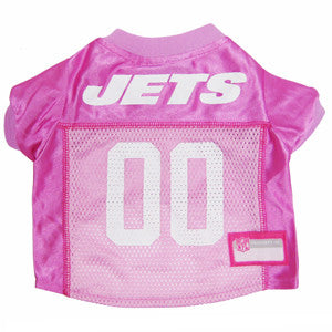 New York Jets Pink NFL Dog Jersey - Happy Paws Pet Shop - 1