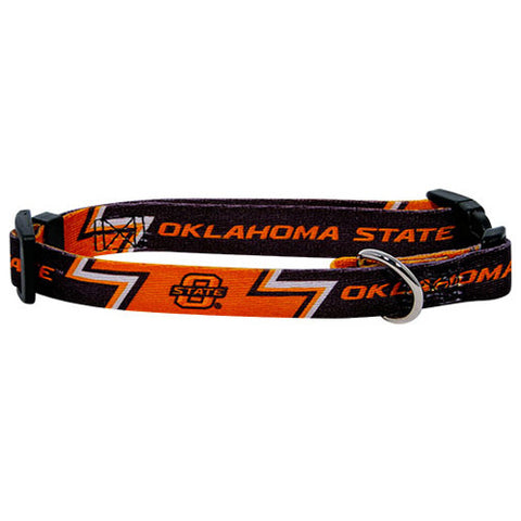 Oklahoma State Cowboys NCAA Licensed Dog Collar - Happy Paws Pet Shop