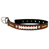 Pittsburgh Steelers NFL Licensed Leather Dog Collar - Happy Paws Pet Shop - 1