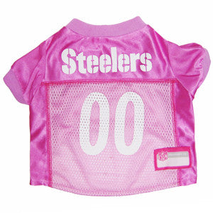 Pittsburgh Steelers Pink NFL Dog Jersey - Happy Paws Pet Shop - 1