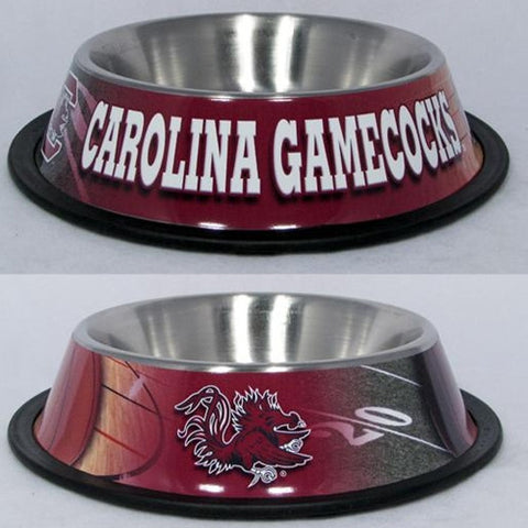 South Carolina Gamecocks Stainless Steel NCAA Dog Bowl - Happy Paws Pet Shop