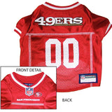 San Francisco 49ers NFL Dog Jersey - White Trim - Happy Paws Pet Shop - 3