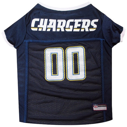 San Diego Chargers NFL Dog Jersey - White Trim - Happy Paws Pet Shop - 1