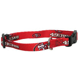 San Francisco 49ers NFL Licensed Dog Collar - Happy Paws Pet Shop
