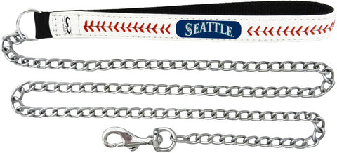Seattle Mariners MLB Leather Dog Leash w/ Chain