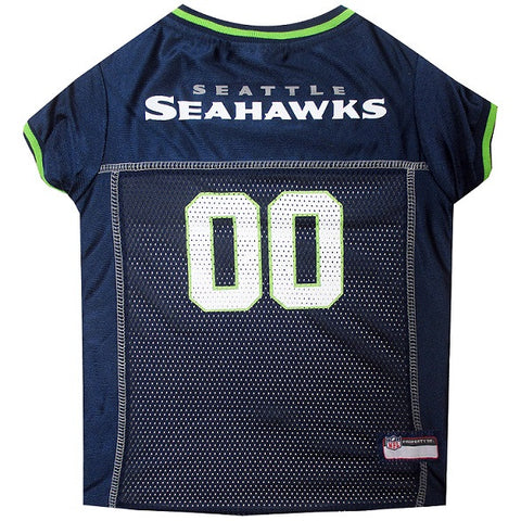 Seattle Seahawks NFL Dog Jersey - Green Trim - Happy Paws Pet Shop - 1