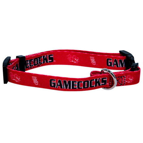 South Carolina Gamecocks NCAA Licensed Dog Collar - Happy Paws Pet Shop