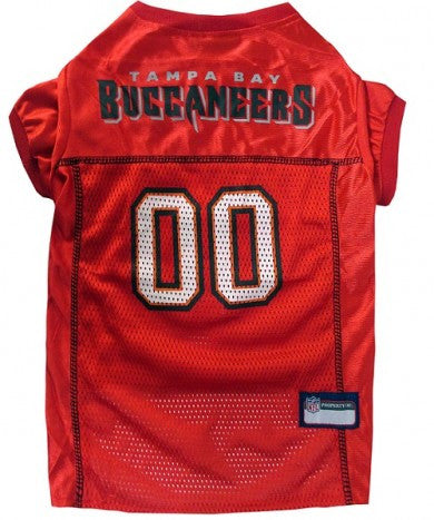 Tampa Bay Buccaneers NFL Dog Jersey - Red Trim - Happy Paws Pet Shop - 1