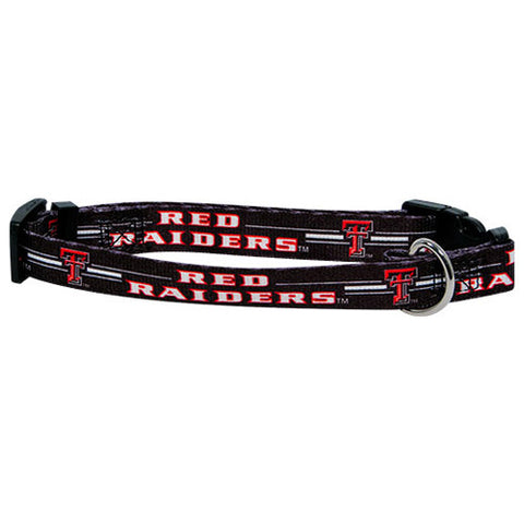 Texas Tech Red Raiders NCAA Licensed Dog Collar - Happy Paws Pet Shop