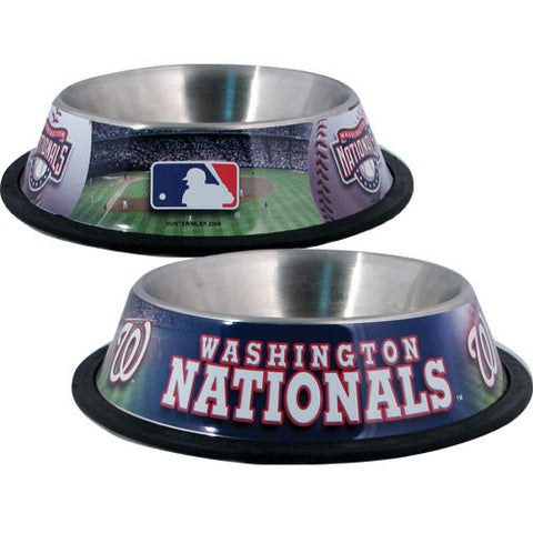 Washington Nationals Stainless Steel MLB Dog Bowl - Happy Paws Pet Shop