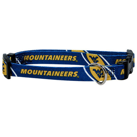 West Virginia Mountaineers NCAA Licensed Dog Collar - Happy Paws Pet Shop