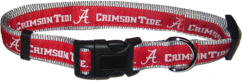 Alabama Crimson Tide NCAA Licensed Ribbon Dog Collar - Happy Paws Pet Shop