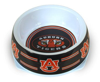 Auburn Tigers Plastic NCAA Dog Bowl - Happy Paws Pet Shop