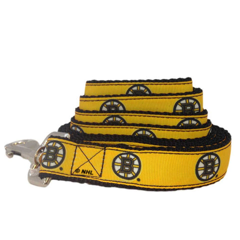 Boston Bruins NHL Ribbon Dog Leash