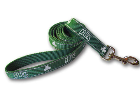 Boston Celtics NBA Reflective Dog Leash - Happy Paws Pet Shop