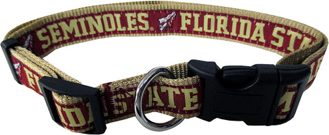 Florida State Seminoles NCAA Licensed Ribbon Dog Collar