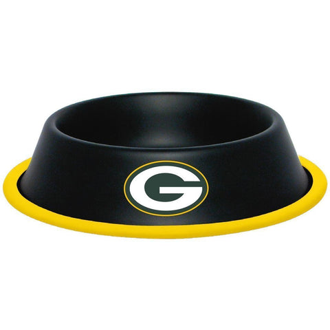 Green Bay Packers Stainless Steel NFL Licensed Dog Bowl - Happy Paws Pet Shop