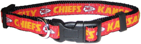 Kansas City Chiefs NFL Licensed Dog Collar - Happy Paws Pet Shop
