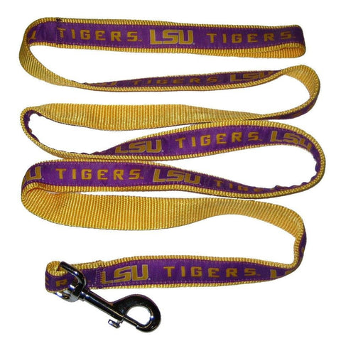 LSU Tigers Ribbon NCAA Dog Leash - Happy Paws Pet Shop