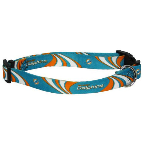 Miami Dolphins NFL Licensed Dog Collar - Happy Paws Pet Shop