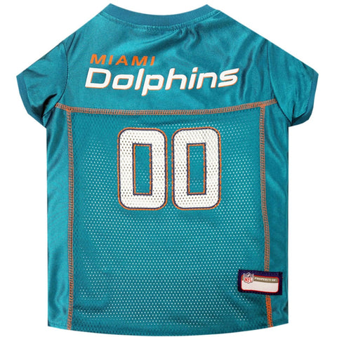 Miami Dolphins Teal NFL Dog Jersey - Happy Paws Pet Shop - 1