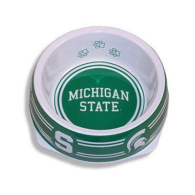 Michigan State Spartans Plastic NCAA Dog Bowl - Happy Paws Pet Shop