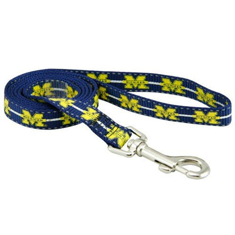 Michigan Wolverines NCAA Reflective Dog Leash