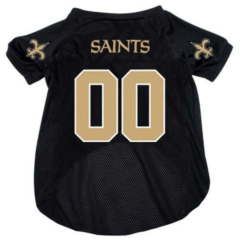New Orleans Saints Black NFL Dog Jersey - Happy Paws Pet Shop - 1