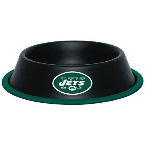 New York Jets Stainless Steel NFL Licensed Dog Bowl - Happy Paws Pet Shop