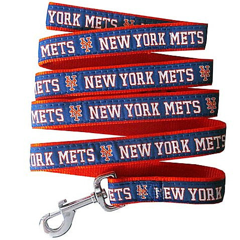 New York Mets MLB Ribbon Dog Leash