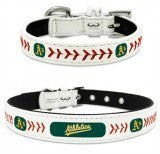 Oakland A's Leather MLB Licensed Dog Collar - Happy Paws Pet Shop - 2