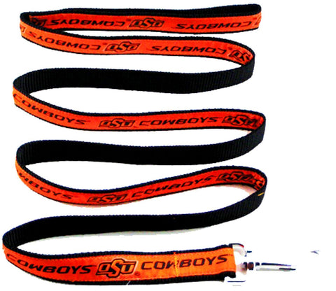 Oklahoma State Cowboys NCAA Ribbon Dog Leash - Happy Paws Pet Shop