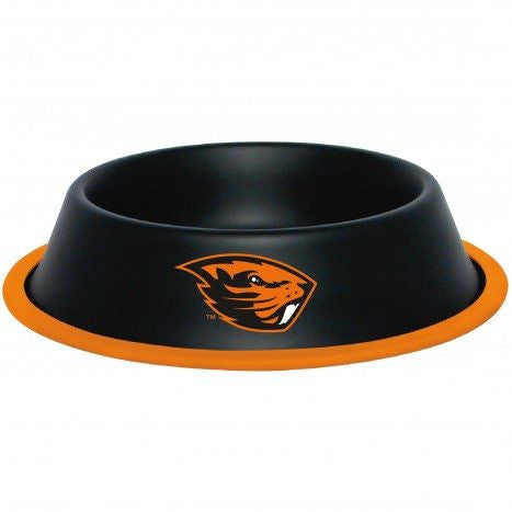 Oregon State Beavers Stainless Steel NCAA Dog Bowl - Happy Paws Pet Shop