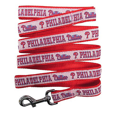 Philadelphia Phillies MLB Ribbon Dog Leash