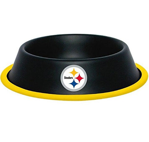 Pittsburgh Steelers Stainless Steel NFL Licensed Dog Bowl - Happy Paws Pet Shop