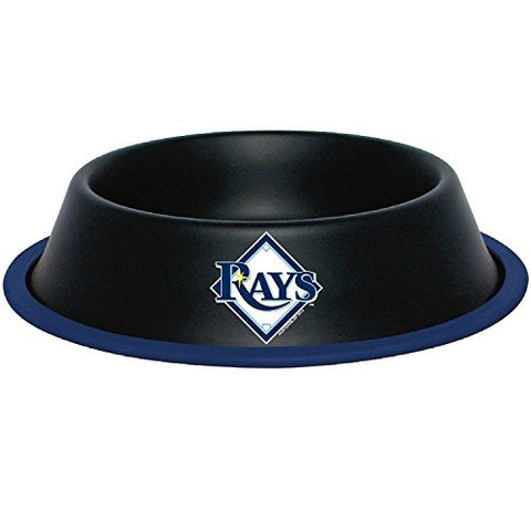 Tampa Bay Rays Stainless Steel MLB Dog Bowl - Happy Paws Pet Shop