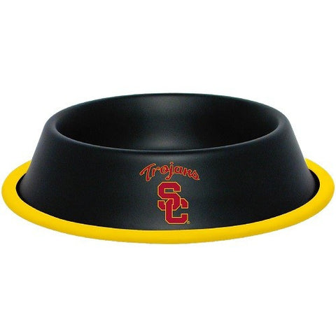 USC Trojans Stainless Steel NCAA Dog Bowl - Happy Paws Pet Shop
