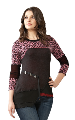 Cheetah Rose Sweater