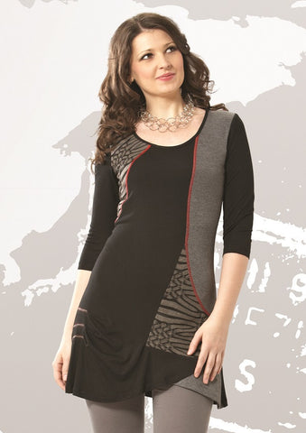 Black Abstract Tunic