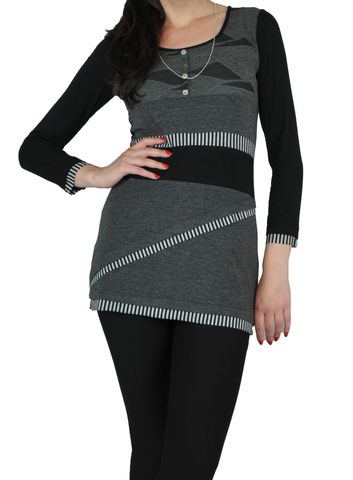 Asymmetric Block Tunic
