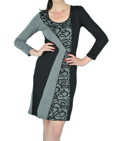 Asymmetric Grey Dress
