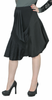 Asymmetrical Black Draped Skirt