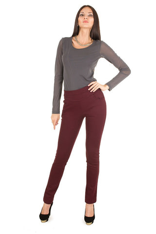 Marsala Stretch Pants