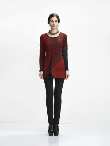 Cherry Checkered Tunic