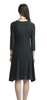 Dark Green Draped French Dress
