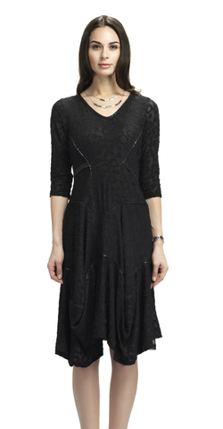 Black French Drape Dress