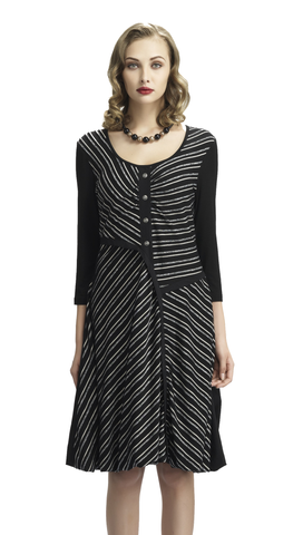 Asymmetric Stripe Dress