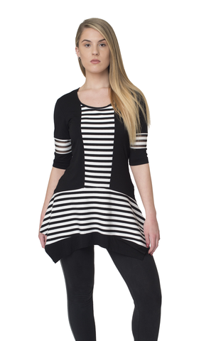 Black and White Flare Tunic